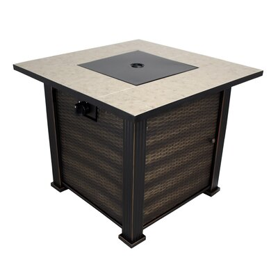 New Haven Steel Propane Gas Fire Pit Table