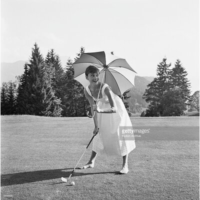 GettyImagesGallery Golfing Hepburn by Hulton Archive Photographic Print