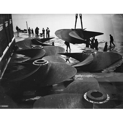 GettyImagesGallery Queen Mary Propellors by E. Phillips Photographic Print