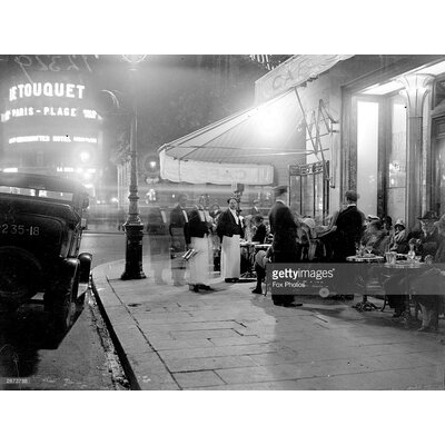 GettyImagesGallery Paris Cafe by Fox Photos Photographic Print