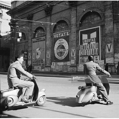 GettyImagesGallery Italian Scooters by Evans Photographic Print