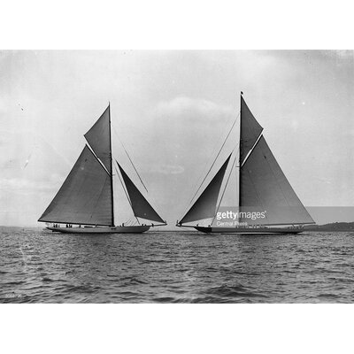 GettyImagesGallery Cowes Yachts by Central Press Photographic Print