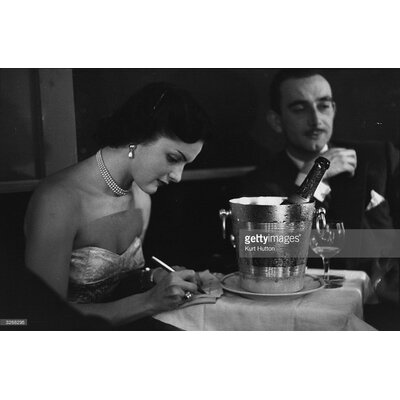 GettyImagesGallery Champagne on Table by Kurt Hutton Photographic Print