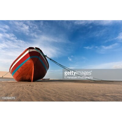 GettyImagesGallery Boat on Beach by E.Hanazaki Photography Photographic Print
