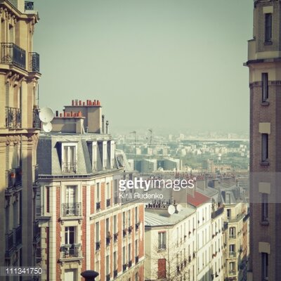 GettyImagesGallery Paris Rooftops by Kirill Rudenko Photographic Print
