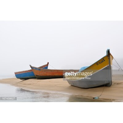 GettyImagesGallery Boats on Beach by Jean-Christophe Riou Photographic Print