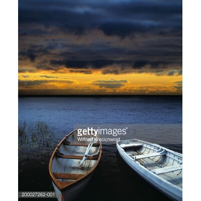 GettyImagesGallery Ireland, Two Rowing Boats on Shannon River At Sunset by Wilfried Krecichwost Photographic Print