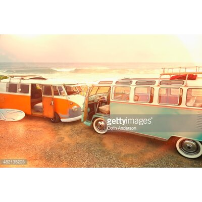 GettyImagesGallery Vans Parked on Beach by Colin Anderson Photographic Print