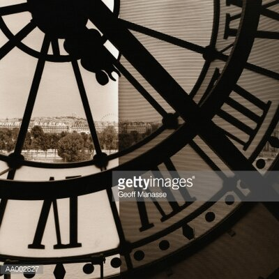 GettyImagesGallery Transparent Clock in the Musee D'Orsay by Geoff Manasse Photographic Print