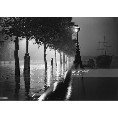 GettyImagesGallery Rainy Embankment by Fox Photos Photographic Print