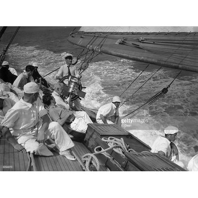 GettyImagesGallery Racing Yacht by E. Dean Photographic Print