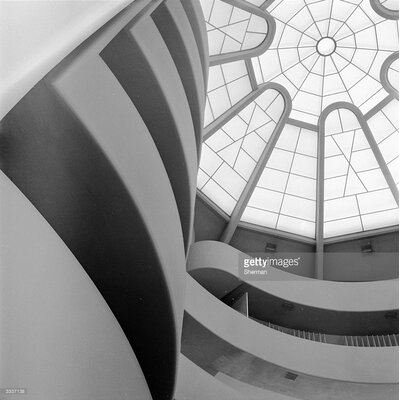 GettyImagesGallery Guggenheim Window by Sherman Photographic Print