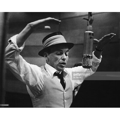 GettyImagesGallery Frank Sinatra Recording Session by M. Garrett Photographic Print