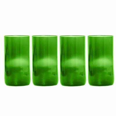 Flat Bottom 16 Oz. Drinkware Set Color: Green