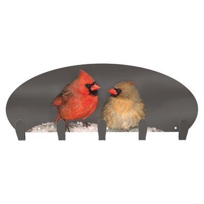 Levada Cardinals 5 Hook Coat Rack