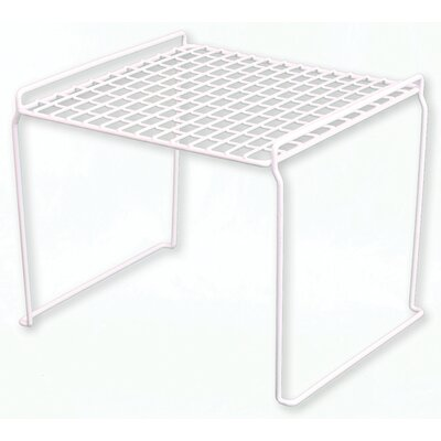 "Coated Wire Stacking Shelf Size: 17.5"" H x 17.5"" W x 15.5"" D"