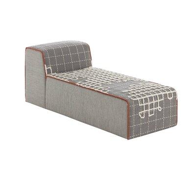 Bandas Chaise Lounge Upholstery: Gray