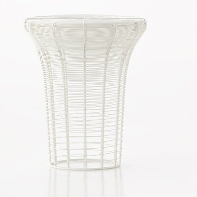 Aram High Accent Stool Color: White