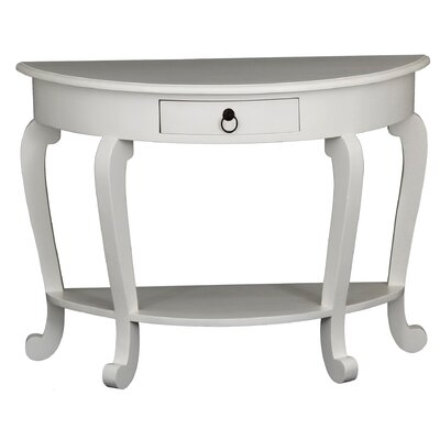 MiaCasa - Dress up your Home Skagen 1 Drawer Half Moon Console Table