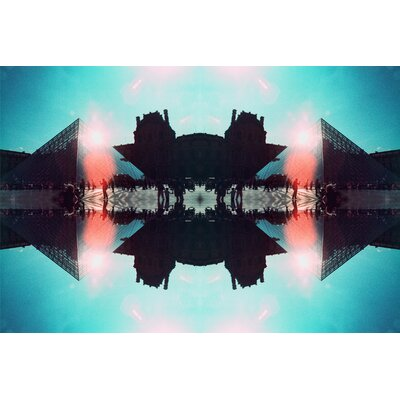 Fluorescent Palace Divine Reflections Two Graphic Art on Canvas