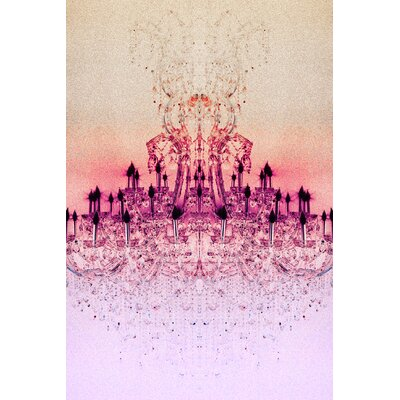 Fluorescent Palace Chrystal Light Graphic Art on Canvas in Rose