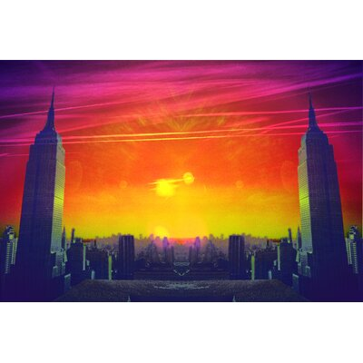 Fluorescent Palace Dual Empire Dawn Graphic Art on Canvas