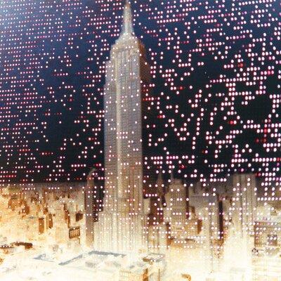 Fluorescent Palace City Energy Night Graphic Art on Canvas