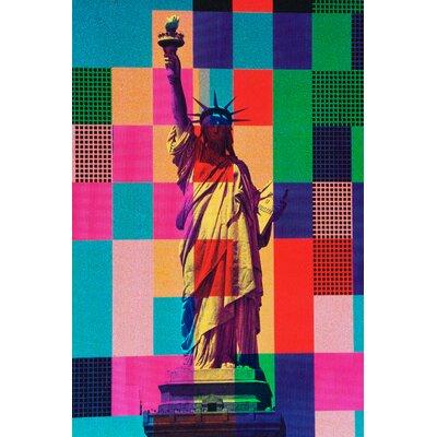 Fluorescent Palace Digital Liberty Graphic Art on Canvas