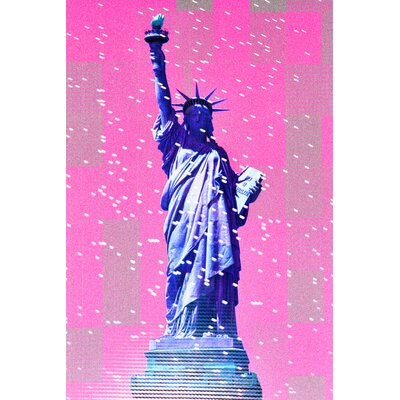 Fluorescent Palace Digital Liberty Graphic Art on Canvas