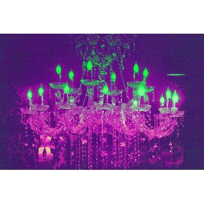 Fluorescent Palace Liquid Chandelier Graphic Art on Canvas in Purple