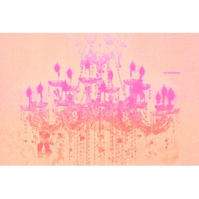 Fluorescent Palace Liquid Chandelier Graphic Art on Canvas in Rose Pastel
