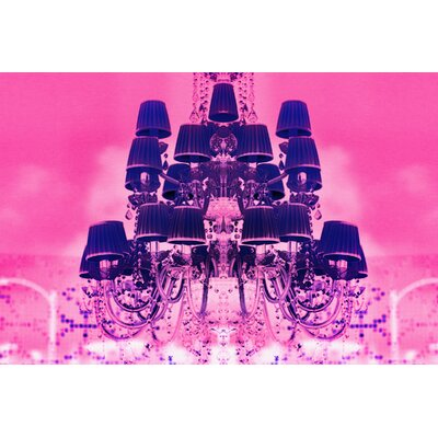 Fluorescent Palace Candy Chandelier Graphic Art on Canvas