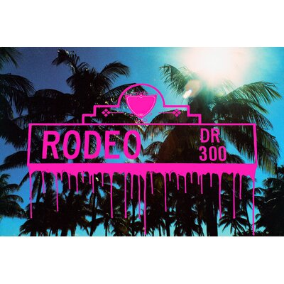 Fluorescent Palace Sign of The Times Rodeo Graphic Art on Canvas