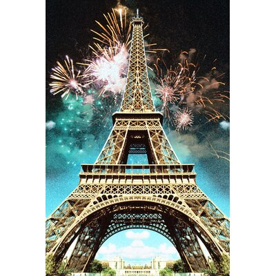 Fluorescent Palace Celebrate Paris Photographic Print on Canvas