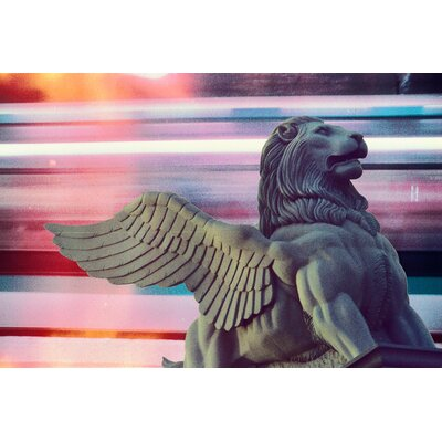 Fluorescent Palace Lion Fly Blur Graphic Art on Canvas