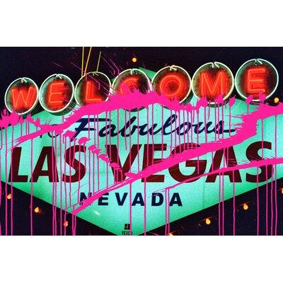 Fluorescent Palace Sin City Neon Nights Graphic Art on Canvas