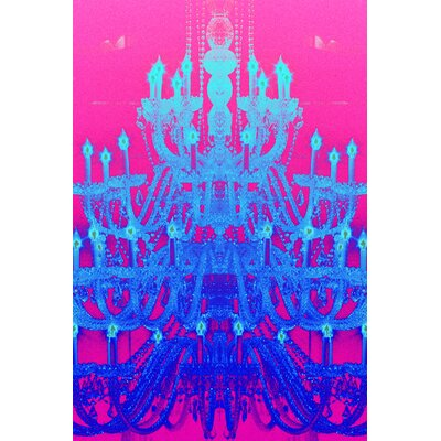 Fluorescent Palace Tower of Light Ice Graphic Art on Canvas