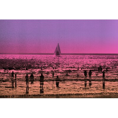 Fluorescent Palace Sail Away Graphic Art on Canvas