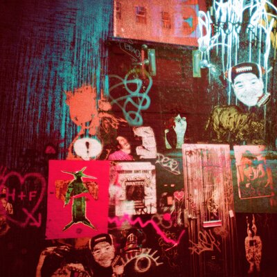 Fluorescent Palace Street Substance Graphic Art on Canvas
