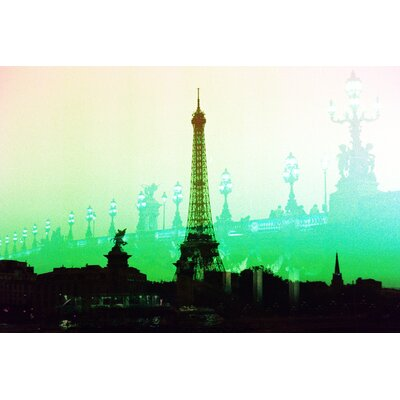 Fluorescent Palace Summer in Paris Graphic Art on Canvas