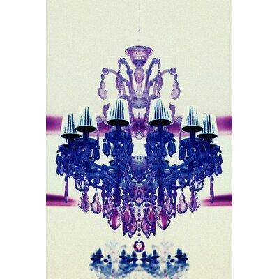 Fluorescent Palace Elegant Radiance Reverse Graphic Art on Canvas