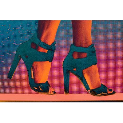 Fluorescent Palace She Walks Graphic Art on Canvas