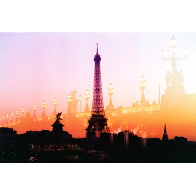 Fluorescent Palace Summer in Paris Photographic Print on Canvas in Orange