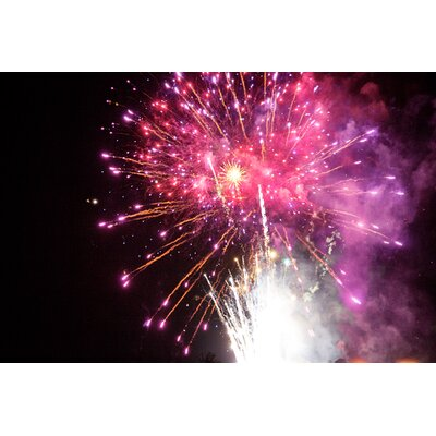 Fluorescent Palace Fireworks Explosion Photographic Print on Canvas