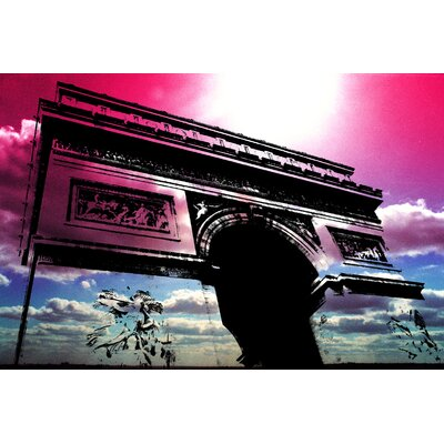 Fluorescent Palace Triumph in The Sky Graphic Art on Canvas