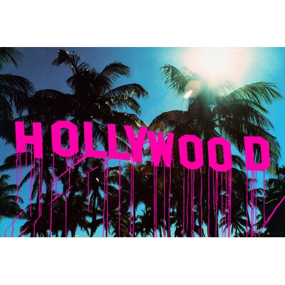 Fluorescent Palace Sign of The Times Hollywood Graphic Art on Canvas
