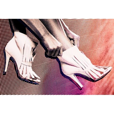 Fluorescent Palace Flo Motion White Boots Graphic Art on Canvas