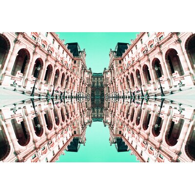 Fluorescent Palace Walking on A Dream Graphic Art on Canvas