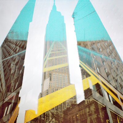 Fluorescent Palace Empire State of Mind Graphic Art on Canvas