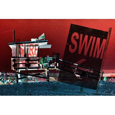 Fluorescent Palace Surf Swim Graphic Art on Canvas